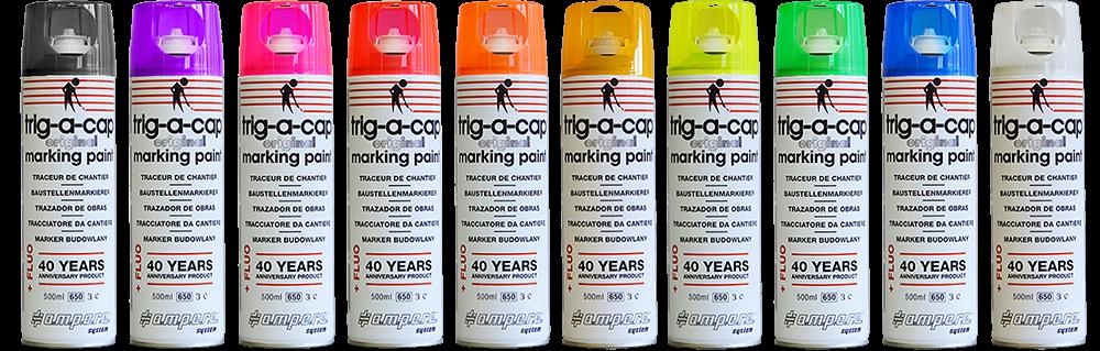 aerosol marcador de obras fluo